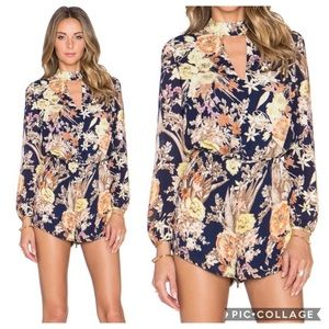 Lucca Fall Floral Long Sleeve Romper